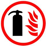 Fire Extinguiser tube tool an illustrated Icon isolated on white Background.  Stock Images