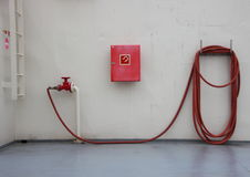 Fire Extinguish Equipment on Ferry Deck with Shadow Stock Images