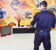 Fire extinguish Simulation Royalty Free Stock Photography