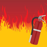 Fire Extinguisher. Fire background , element for design, vector illustration Royalty Free Stock Photography