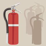 Fire Extinguisher. Element for design, vector illustration Stock Photography