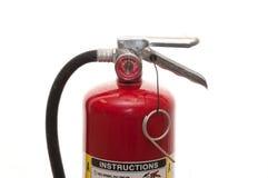 Fire extinguisher. Used fire extinguisher isolated on white Stock Photo