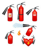 Fire extinguisher. On a white background Royalty Free Stock Photos