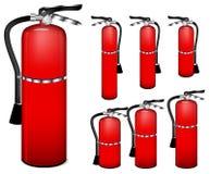 Fire extinguisher. Set of fire extinguisher isolated on white background Stock Images