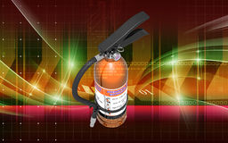 Fire extinguisher. Digital illustration of fire extinguisher in colour background Royalty Free Stock Images