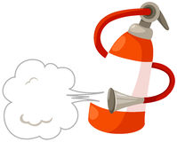 Fire extinguisher. Illustration  of isolated fire extinguisher on white background Stock Image