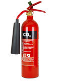 Fire Extinguisher. Red CO2 Fire Extinguisher cut out stock images