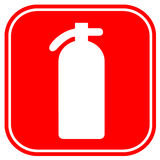 Fire extinguisher. Sign isolated on white Stock Photo