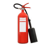 Fire extinguisher. Isolated over white background Royalty Free Stock Photos