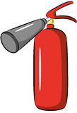 Fire extinguisher. Illustration of red fire extinguisher, isolated Stock Photography
