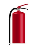 Fire extinguisher. Red Fire extinguisher on white background Royalty Free Stock Photos