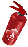 Fire extinguisher. Illustration of an fire extinguisher, isolated Royalty Free Stock Photography