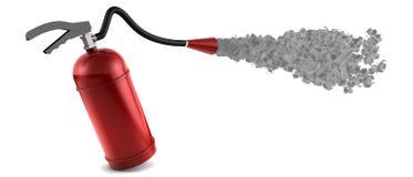 Fire Extinguisher. In action. XXL-Rendering Stock Image