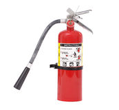 Fire Extinguisher. An isolated fire extinguisher on a white background stock photography