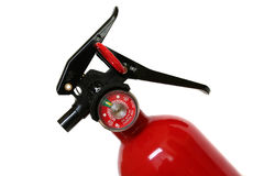 Fire extinguisher. Close-up of a portable fire extinguisher Royalty Free Stock Photography