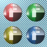 A fire extinguisher button,icon, sign,3D illustration Stock Image
