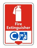 Symbol Fire Extinguisher C Sign on white background,Vector illustration. Fire Extinguisher C Sign on white background,Vector illustration stock illustration