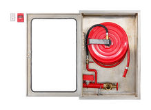 Fire extinguisher cabinet Stock Image