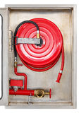 Fire extinguisher cabinet Stock Photography