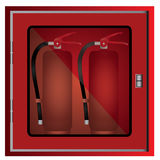 Fire extinguisher cabinet. Design Royalty Free Stock Images