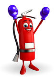 Fire Extinguisher character with Boxing Gloves Stock Image