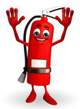 Fire Extinguisher character with happy pose Stock Photos
