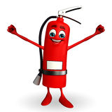 Fire Extinguisher character with happy pose Royalty Free Stock Images