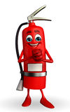 Fire Extinguisher character with promise pose Stock Image