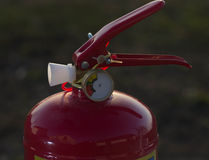 Fire extinguisher close up Royalty Free Stock Photos