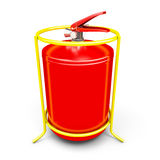 Fire extinguisher close-up. Fire extinguisher close-up isolated on white background. 3d render image Stock Images