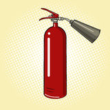 Fire extinguisher comic book vector Royalty Free Stock Photography