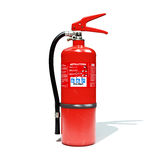 fire extinguisher 3d illustrated. Fire extinguisher was modeled in nurbs, using rhino 3d... rendering is provided from 3ds max with vray Stock Photo