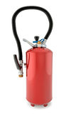 Fire extinguisher. 3d illustration of fire extinguisher on white background Stock Images