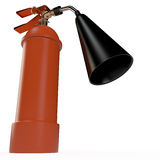Fire extinguisher, 3D. Fire extinguisher isolated on white, 3D Stock Images