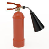 Fire extinguisher, 3D. Fire extinguisher  on white, 3D Royalty Free Stock Image
