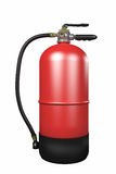 Fire extinguisher. Design in 3d of a fire extinguisher on a white background Royalty Free Stock Images