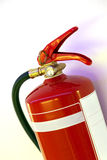 Fire extinguisher. Detail of red fire extinguisher Royalty Free Stock Images