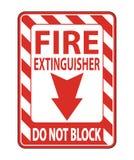 Fire Extinguisher Do Not Block sign Isolate On White Background,Vector Illustration stock illustration
