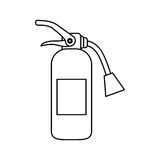 Fire extinguisher equipment. Icon  illustration graphic design Stock Image