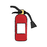 Fire extinguisher equipment. Icon  illustration graphic design Stock Images