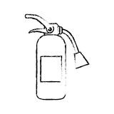 Fire extinguisher equipment. Icon  illustration graphic design Stock Photos