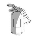 Fire extinguisher equipment. Icon  illustration graphic design Royalty Free Stock Photography