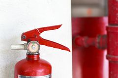 Fire Extinguisher. Must be checked Properly checked , In order to be able to use it effectively Royalty Free Stock Images