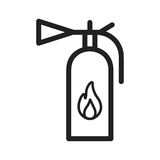 Fire Extinguisher. Fire, extinguisher, firefighter icon vector image. Can also be used for firefighting. Suitable for use on web apps, mobile apps and print Royalty Free Stock Image