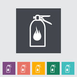 Fire extinguisher flat icon. Vector illustration Stock Photos
