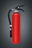 Fire extinguisher on grey Stock Image