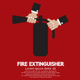Fire Extinguisher. Hand Holding A Fire Extinguisher Vector Illustration Royalty Free Stock Photography