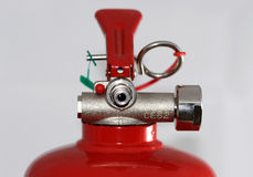 Fire extinguisher head. This is a top of a fire extinguisher Royalty Free Stock Image
