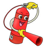 Fire extinguisher icon. Cartoon illustration of fire extinguisher icon Royalty Free Stock Images