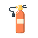 Fire extinguisher icon cartoon style. Stock Photo